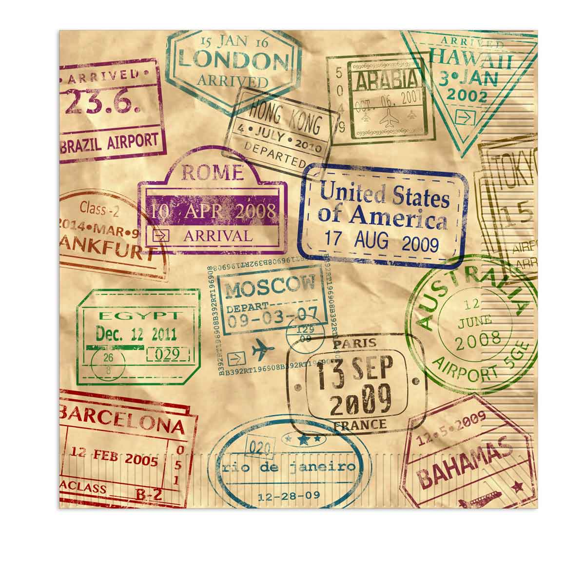 Around The World Napkins