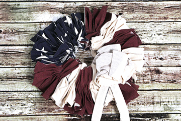 Rustic Patriotic Wreath