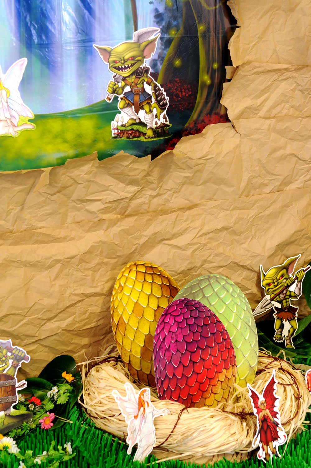 Fantasy Party Theme DIY Dragon Egg Nest