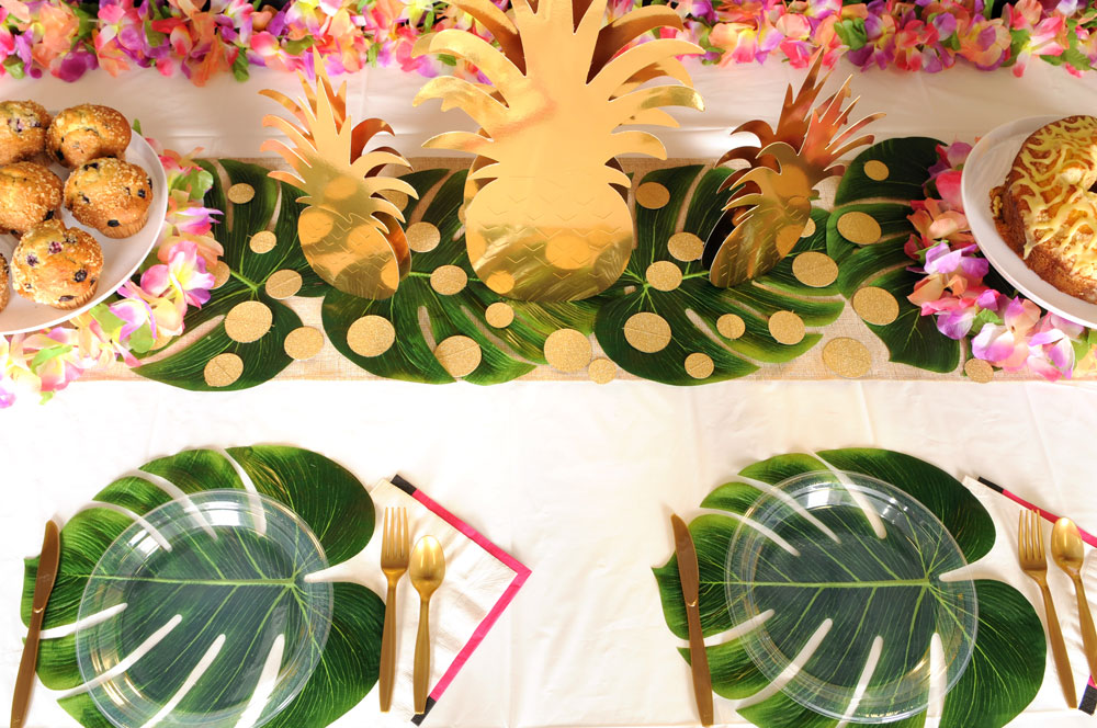 Palm Leaves & Pineapples Centerpieces