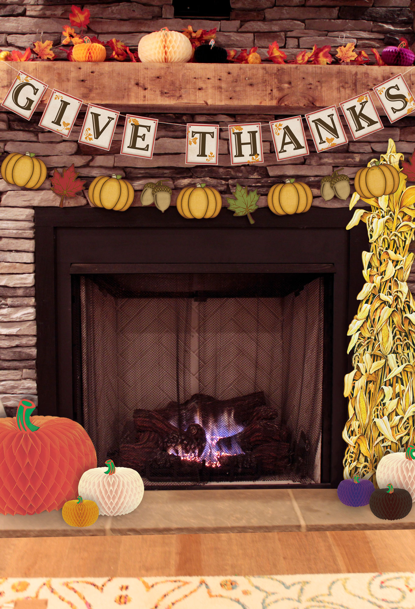 Fall-Fireplace-Decorations