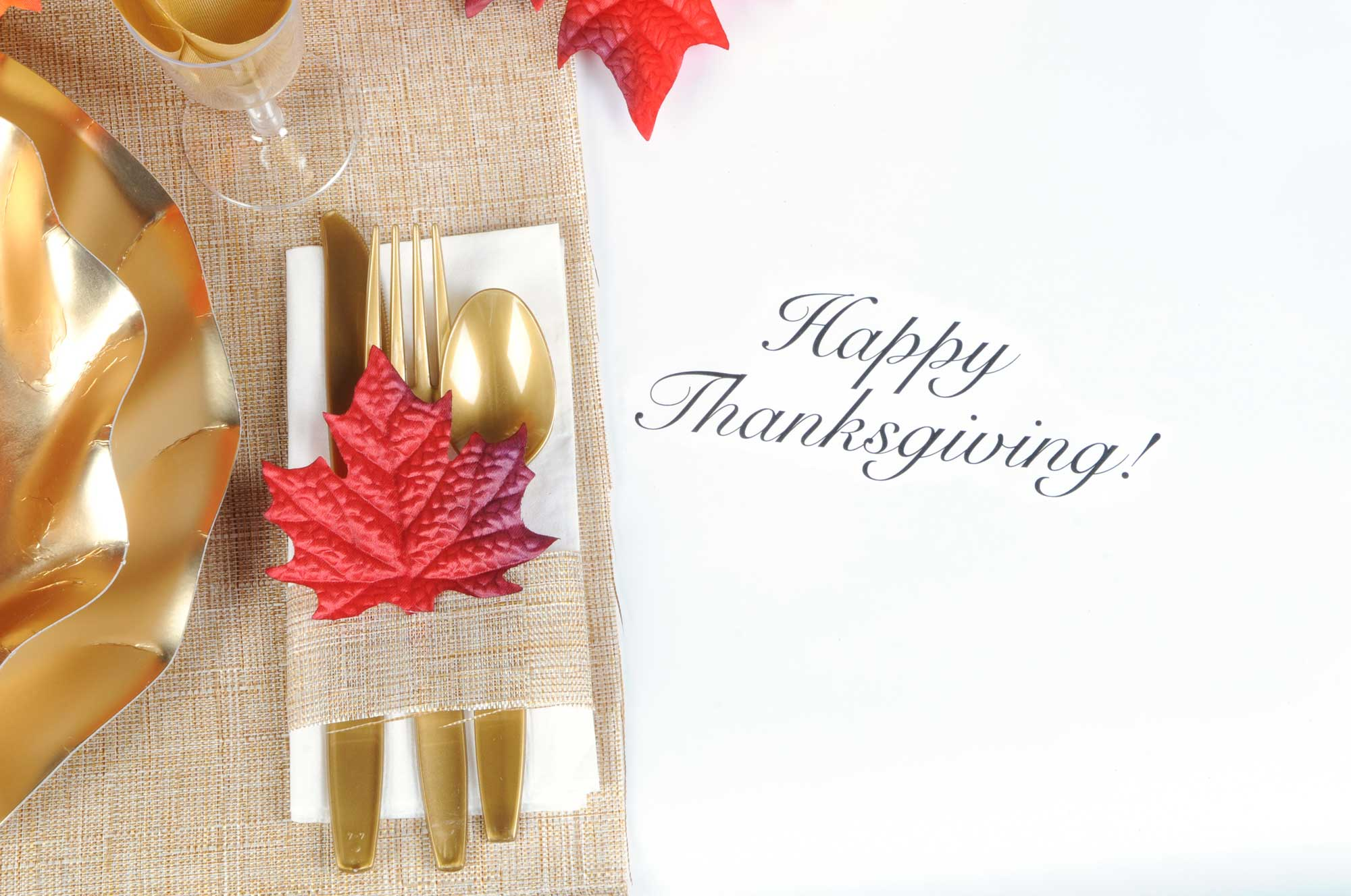 Thanksgiving Table Setting Plasticware