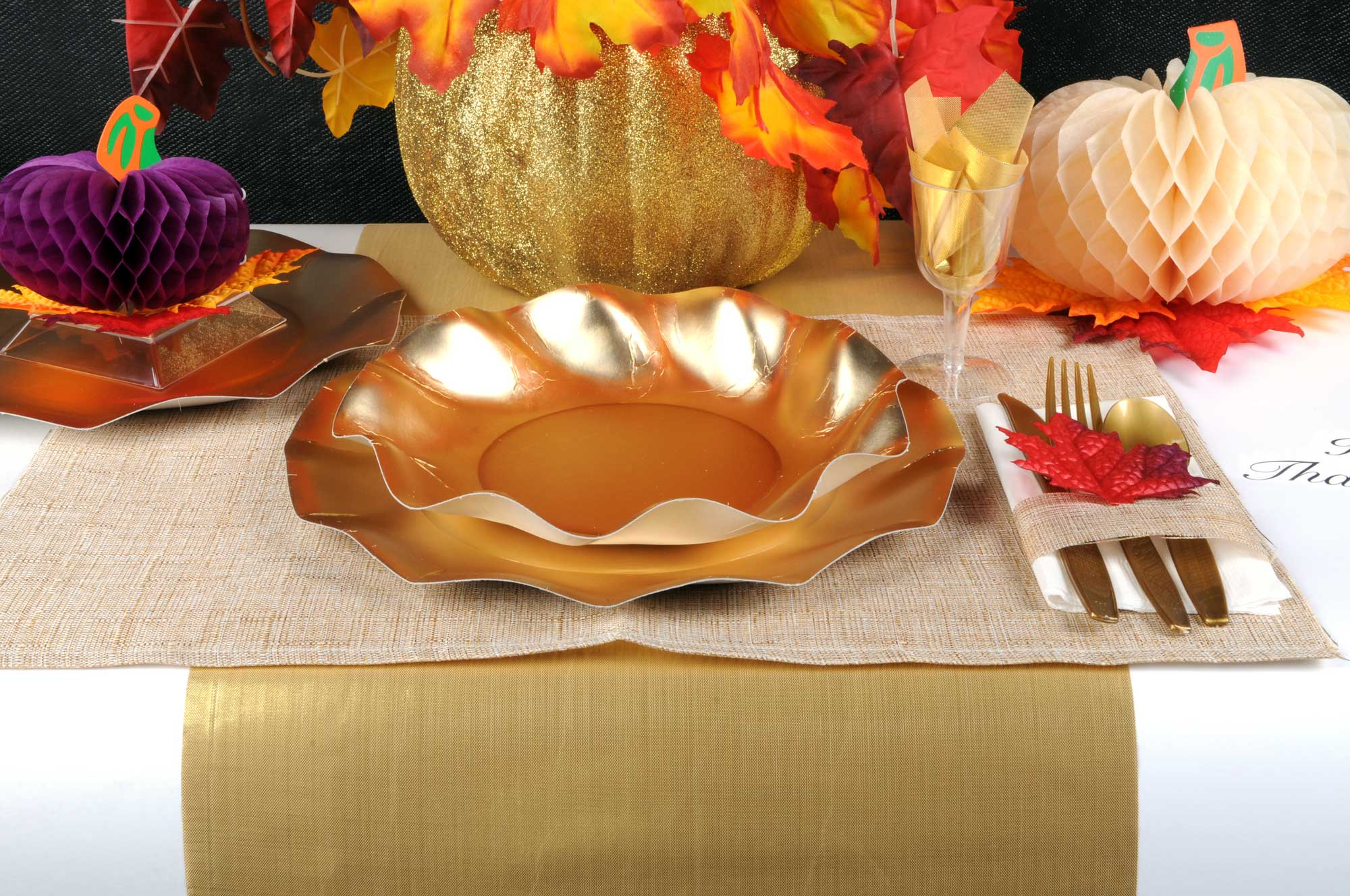 Thanksgiving Table Setting Runner